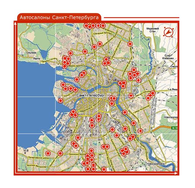интерактивная карта санкт